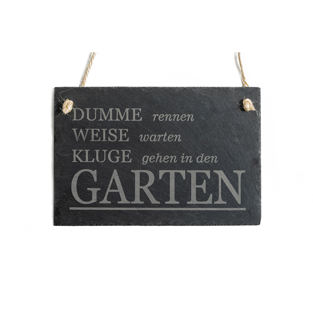 Schieferschild Garten