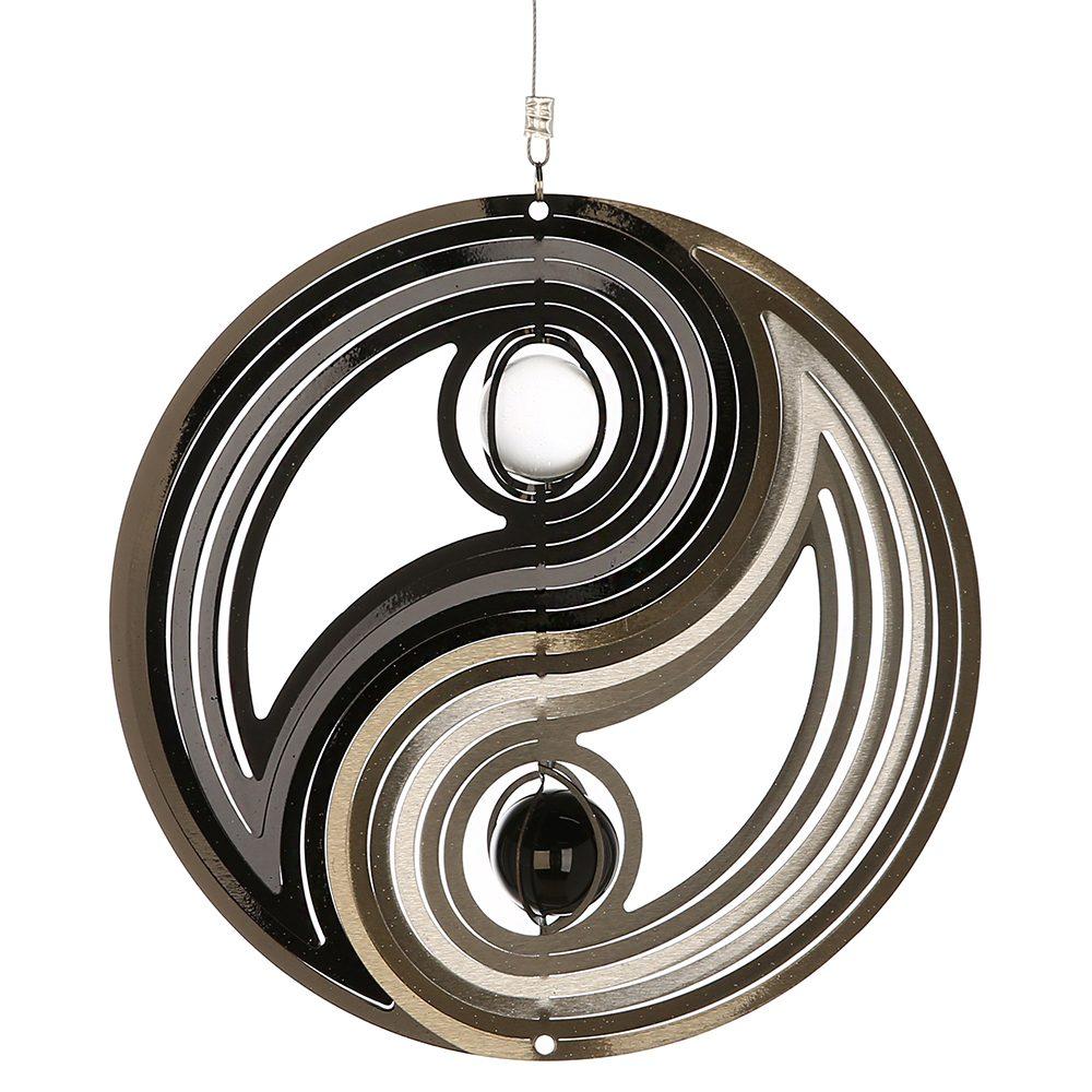 Yin-Yang  mit Glaskugel